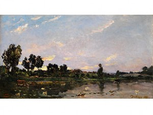 Landschaft Mit Gewässer by Charles Francois DAUBIGNY
