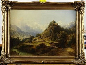 Alpstuga by Eduard Friedrich PAPE