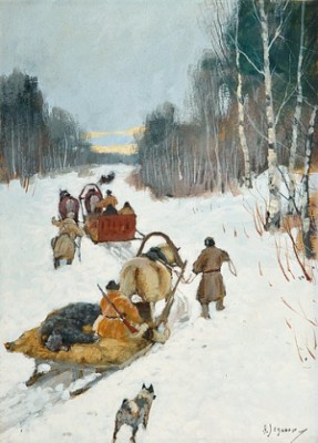 Sleighs by Andrei Afanasievich YEGOROV