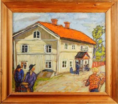 Småstadsmotiv by Bengt ELLIS