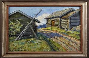 Backe Med Lador, Siljansnäs by Akke Hugh MALMESTRÖM