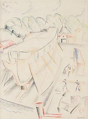 Varvet I Uddevalla by John 'Jon' JON-AND