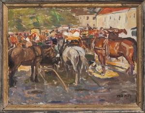 Hästar På Torgmarknad by Wilhelm SMITH