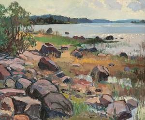 Rocky Shore by Wilho SJÖSTRÖM