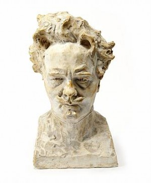 Byst, Föreställande August Strindberg by Carl Johan ELDH