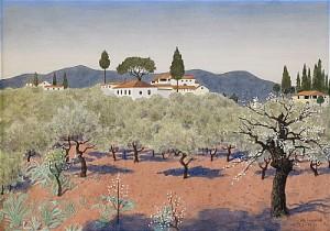 Olivlund Toscana by Oskar BERGMAN