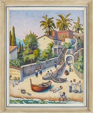 Bymotiv Från Taormina by Akke Hugh MALMESTRÖM