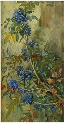 Växtmotiv by Gunnar WENNERBERG