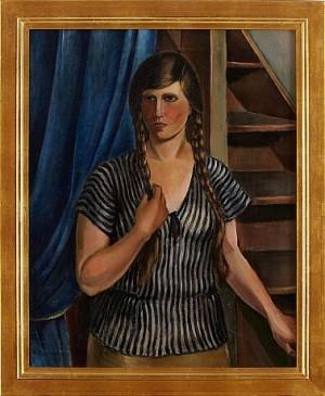 Kvinna Vid Trappa by Patrik REUTERSWÄRD