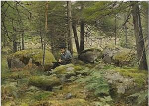 Jägare I Skog by Johan TIRÉN