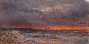The Sea At Sunset by Alexei Petrovich BOGOLIUBOV
