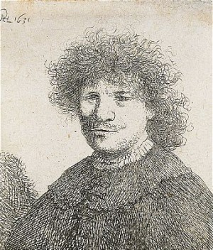 Self-portrait In A Falling Collar, Bust by Rembrandt Harmenszoon Van RIJN