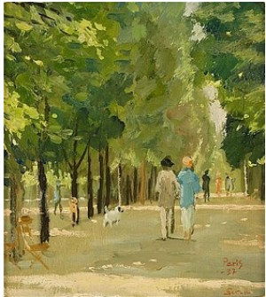 Promenad I Paris by Greta GERELL