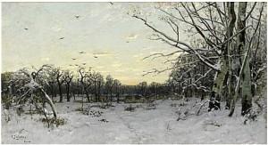 Vinterlandskap I Skymning by Carl SKÅNBERG