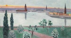 Stockholm - Vy Mot Riddarholmen Och Stadshuset by Einar JOLIN