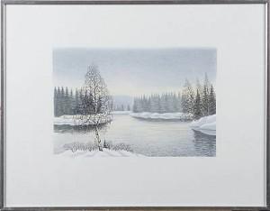 Vinterlandskap by Per JULIUS