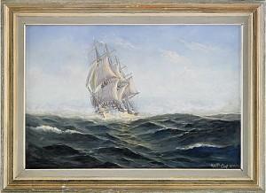 Tremastad Fullriggare by Alexander WILHELMS