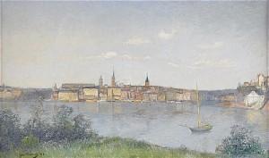 Vy över Riddarholmen, Stockholm by Johan 'John' KINDBORG