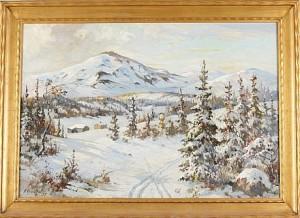 Vinterlandskap by Fritz Von ROSENTHAL