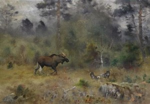 älgjakt by Lindorm LILJEFORS