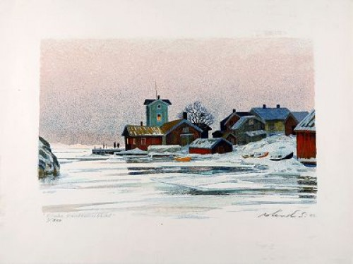 Vinter, Sandhamnshålet by Roland SVENSSON