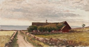 A House At The Seaside by Berndt LINDHOLM