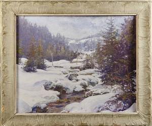 Vinterlandskap Med Vattendrag by Vassili Filippovich LEVI