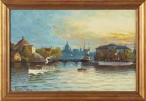 Motiv Från Stockholm by Alfred WETTERSTRÖM