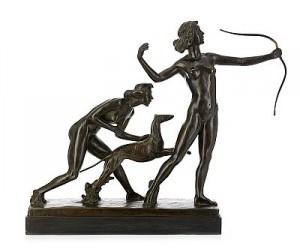 Diana Och Nymf by Carl FAGERBERG