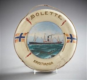 Fartygsporträtt Av Norska Lastångaren