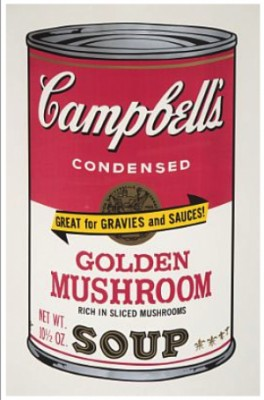 Campbell's Soup I: Golden Mushroom by Andy WARHOL