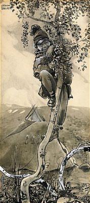 Lappojke I Träd by John BAUER