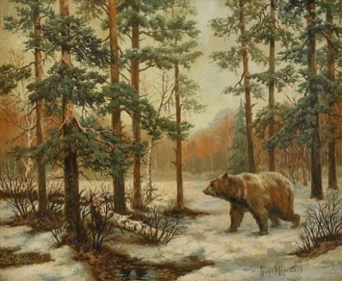 The Bear In The Forest by Vladimir Leonidovich MURAWJOFF