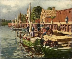 Fiskare Vid Kaj by Leon FAGERCRANTZ