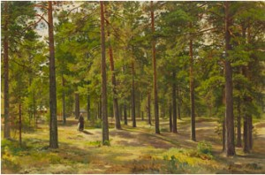 In The Pine Forest by Ivan Ivanovitch SHISHKIN