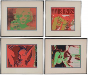 Four Serigraphs From The Last Session by Bert STERN