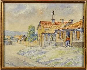 Motiv Från Stockholm-mejtens Gränd by Erland HEURLIN