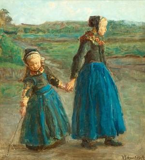 Två Flickor by Viggo JOHANSEN