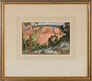 Bergslandskap by Carl Oscar BORG