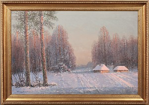 Vinterlandskap by Wiktor KORECKI