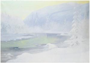 Vinterkväll - Motiv Från Högläkardalen I Jämtland by Olof Walfrid NILSSON