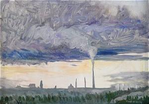Utsikt Med Fabriksrök by Peter DAHL