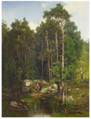 Två Barn Vid En Tjärn by Josefina HOLMLUND
