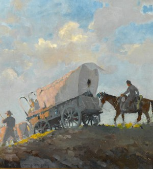 Wagon Train by Carl Oscar BORG