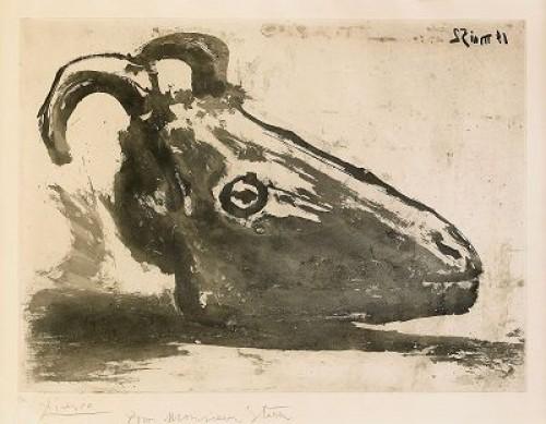 Le Crâne De Chèvre, Bloch 691 by Pablo PICASSO