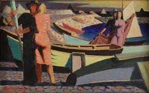 Hamnscen Ii by Waldemar LORENTZON