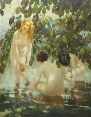 The Bathers by Vitaly Gavrilovich TIKHOV