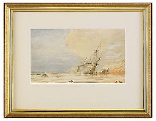 Strand Med Plundring Av Förlist Segelfartyg by Abraham The Younger HULK