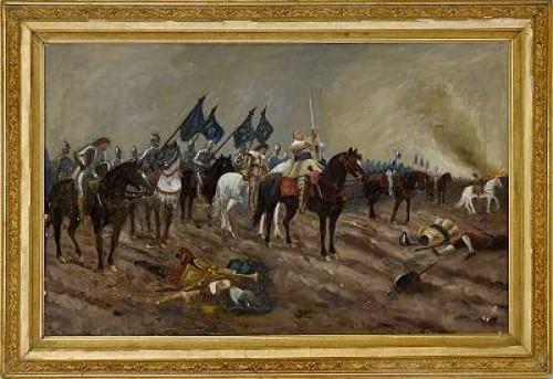 Slaget Vid Lutzen Med Gustav Ii Adolf by Carl Gabriel WADELL