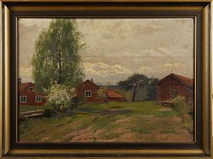 Röda Stugor by Erik ABRAHAMSSON